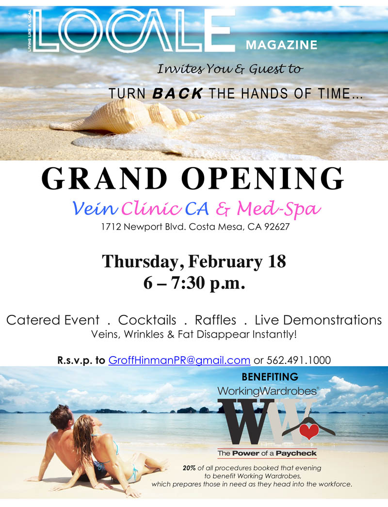 vein clinic costa mesa grand opening with locale magazine